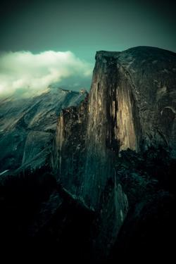 Yosemite National Park, California: Sunset Falls and Lights Up the Wall on Half Dome by Brad Beck