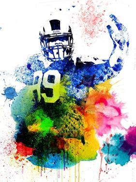 Aaron Donald Watercolor I by Brad Dillon