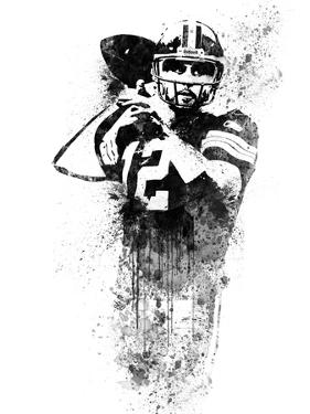Aaron Rodgers Watercolor by Brad Dillon