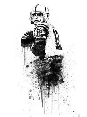 Andrew Luck Watercolor by Brad Dillon