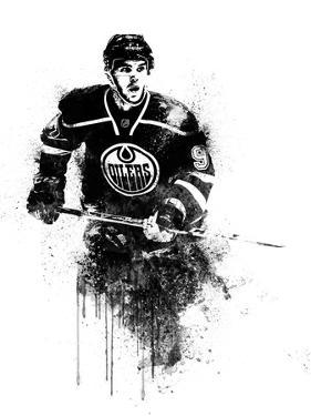 Connor McDavid Watercolor I by Brad Dillon