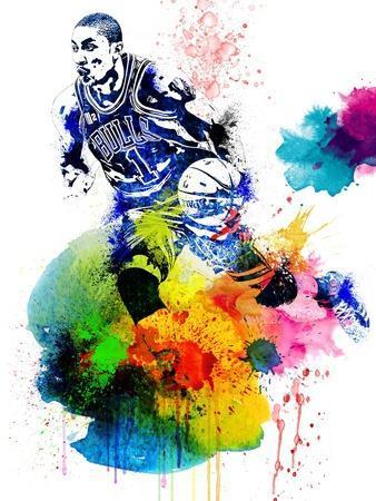 Derrick Rose Watercolor I