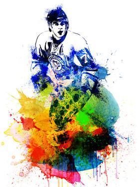 Evgeni Malkin Watercolor I by Brad Dillon