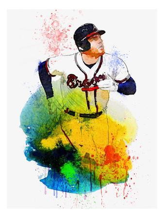 Freddie Freeman Watercolor