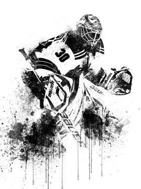 Henrik Lundqvist Watercolor by Brad Dillon
