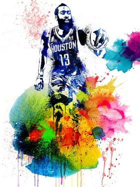 James Harden Watercolor I by Brad Dillon
