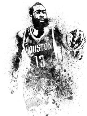 James Harden Watercolor by Brad Dillon