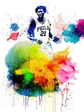 Joel Embiid  Watercolor by Brad Dillon