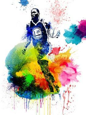 Kevin Durant  Watercolor by Brad Dillon