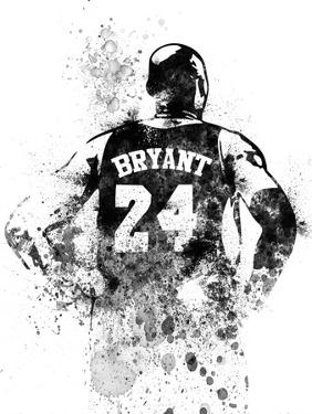 Kobe Bryant Watercolor I by Brad Dillon