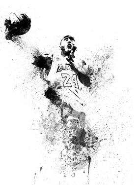 Kobe Bryant Watercolor II by Brad Dillon