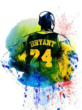 Kobe Bryant Watercolor by Brad Dillon