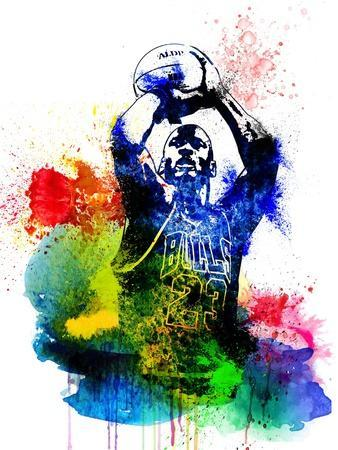 Michael Jordan Watercolor II