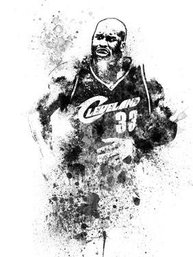 Shaquille O Neal Watercolor I by Brad Dillon