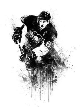 Sidney Crosby Watercolor by Brad Dillon