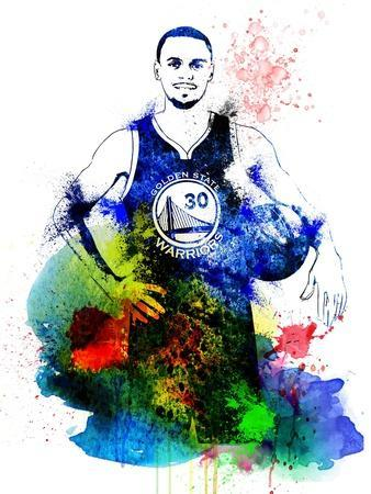Stephen Curry Watercolor