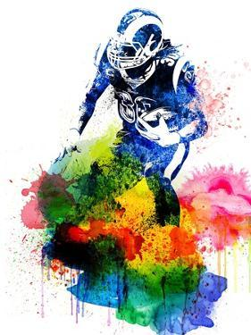 Todd Gurley Watercolor by Brad Dillon