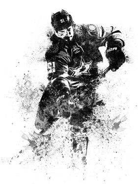Tyler Seguin Watercolor by Brad Dillon