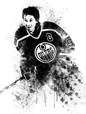 Wayne Gretzky Watercolor by Brad Dillon