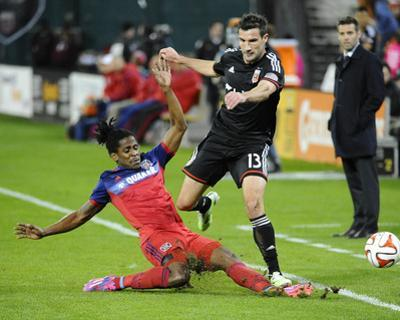 Oct 18, 2014 - MLS: Chicago Fire vs D.C. United - Lovel Palmer, Chris Pontius by Brad Mills