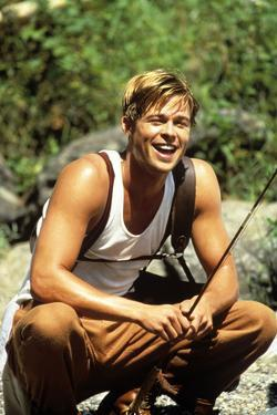"BRAD PITT. ""A RIVER RUNS THROUGH IT"" [1992], directed by ROBERT REDFORD."
