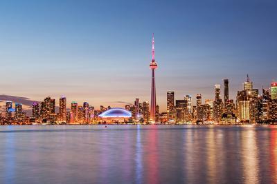 Toronto Skyline at Sunset from Toronto Islands