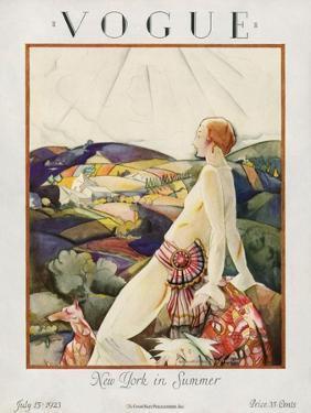 Vogue Cover - July 1923 by Bradley Walker Tomlin
