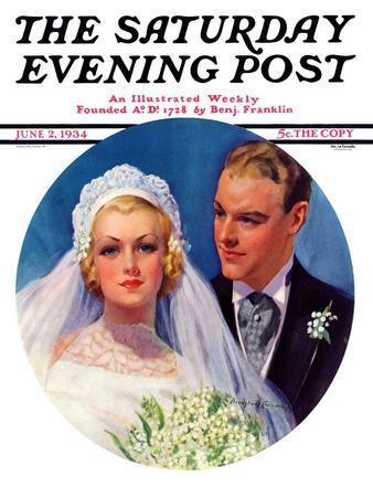 """Bridal Couple,"" Saturday Evening Post Cover, June 2, 1934"