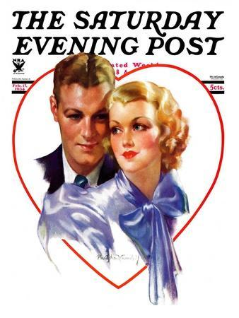 """""""Couple in Heart,"""" Saturday Evening Post Cover, February 17, 1934"""