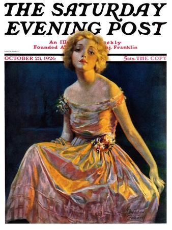 """""""Golden Ball Gown,"""" Saturday Evening Post Cover, October 23, 1926"""