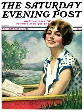 """""""Summer Reading,"""" Saturday Evening Post Cover, September 4, 1926 by Bradshaw Crandall"""