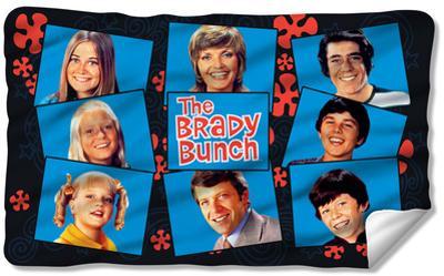 Brady Bunch - Squares Fleece Blanket