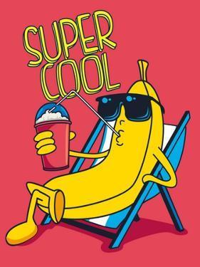 Cartoon Banana Vector Character, Milkshake by braingraph