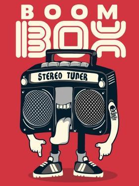 Cool Radio Character Vector Design for Tee by braingraph