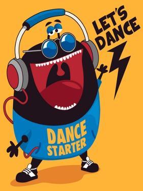 Dance Monster Vector Design by braingraph