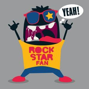 Rock Fan Monster by braingraph