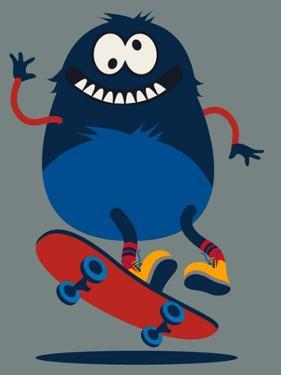 Skater Monster Victor Design for Kids Tee by braingraph