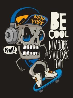 Vector Skateboard Skull Design by braingraph