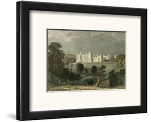 Brancepeth Castle, Durham by T Allom
