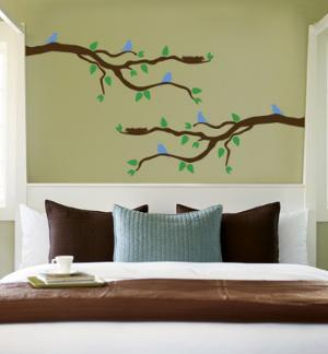Branch With Blue Birds