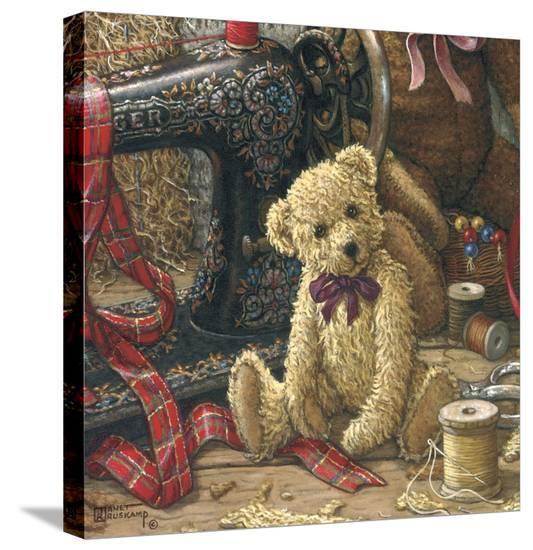Brand New Bear l-Janet Kruskamp-Stretched Canvas Print