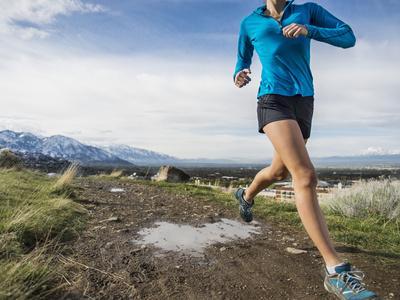 Women Trail Runner, Salt Lake City, Utah,
