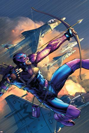 House Of M No.4 Cover: Hawkeye