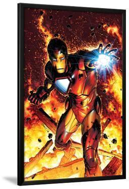 Invincible Iron Man No.2 Cover: Iron Man by Brandon Peterson