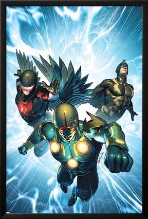 Nova No.33 Cover: Nova, Black Bolt and Darkhawk