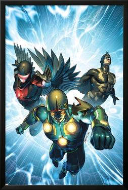 Nova No.33 Cover: Nova, Black Bolt and Darkhawk by Brandon Peterson