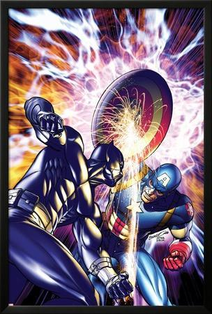 Ultimate Captain America Annual No.1 Cover: Captain America and Black Panther