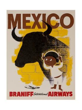 Braniff Airways Travel Poster Mexico