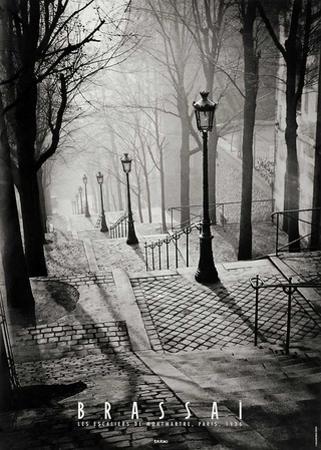Escalier de la Butte Montmartre by Brassaï