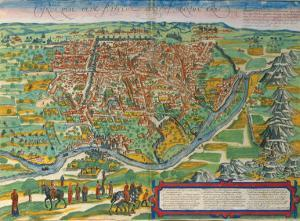 Cairus, Ovae Olim Babylon, 1574 by Braun and Hogenberg